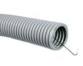 ДКС Труба ПВХ гибкая гофр. д.25мм, тяжёлая с протяжкой, 50м, цвет серый