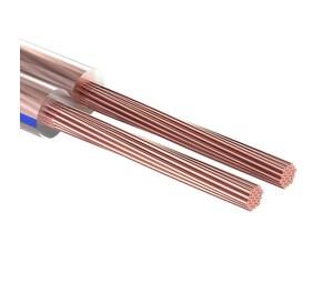Кабель акустический, 2х0.25 мм?, прозрачный BLUELINE, 100 м. REXANT